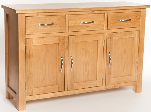 York Oak 3 Door 3 Drawer Wide Sideboard