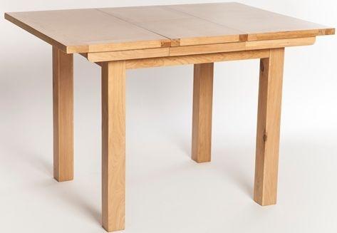 York Oak Rectangular Extending Dining Table - 80cm-113cm