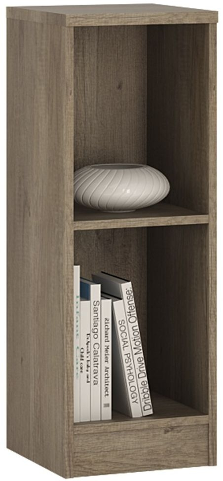 4 You Canyon Grey Bookcase - Low Narrow