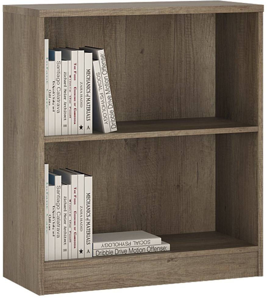 4 You Canyon Grey Bookcase - Low Wide
