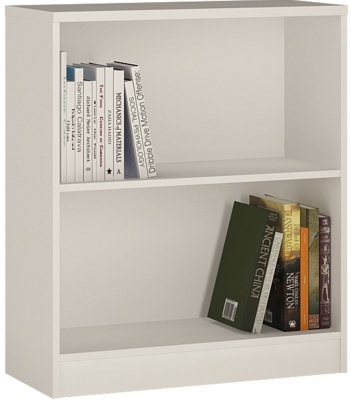 4 You Pearl White Bookcase - Low Wide