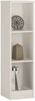4 You Pearl White Medium Narrow Bookcase