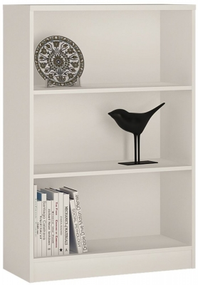 4 You Pearl White Medium Wide Bookcase