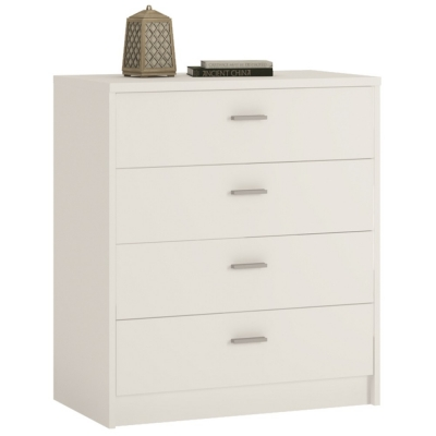 4 You Pearl White Chest of Drawers - 4 Drawer