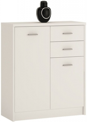 4 You Pearl White 2 Door Combi Cupboard