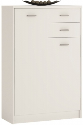 4 You Pearl White 2 Door Tall Combi Cupboard