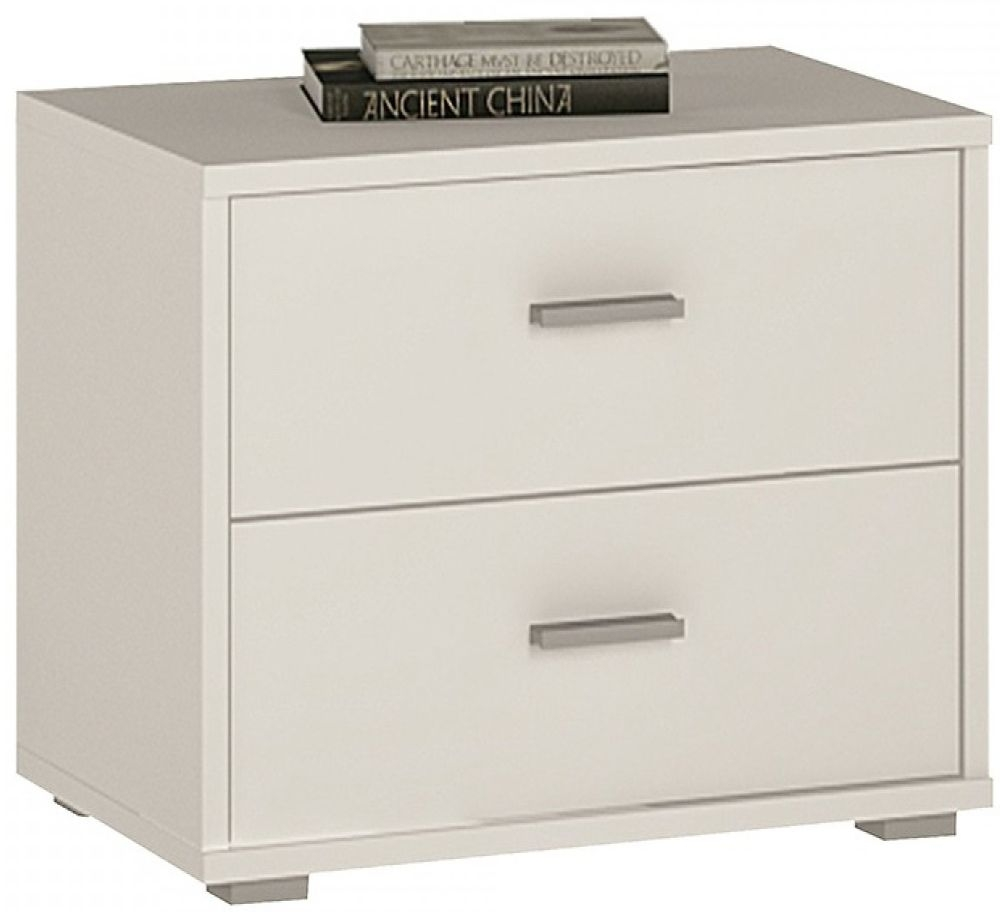 4 You Pearl White Bedside Cabinet