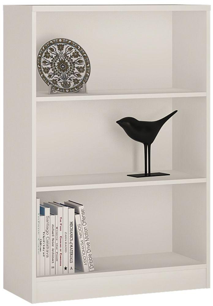 4 You Pearl White Bookcase - Medium Wide