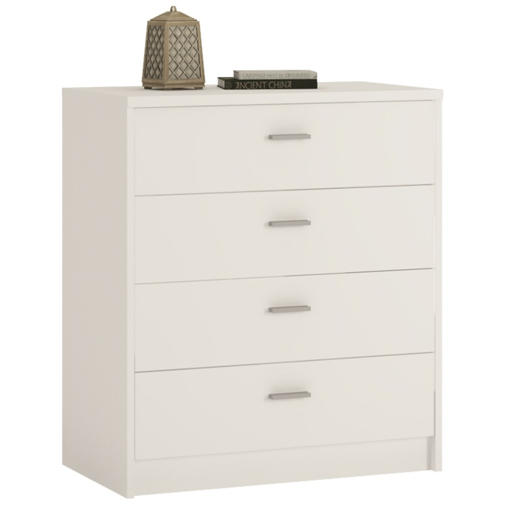 4 You Pearl White Chest of Drawer - 4 Drawer