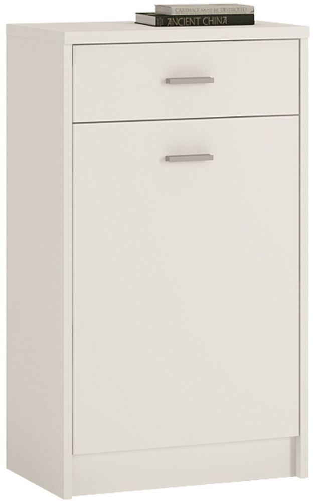 4 You Pearl White Cupboard - 1 Door 1 Drawer