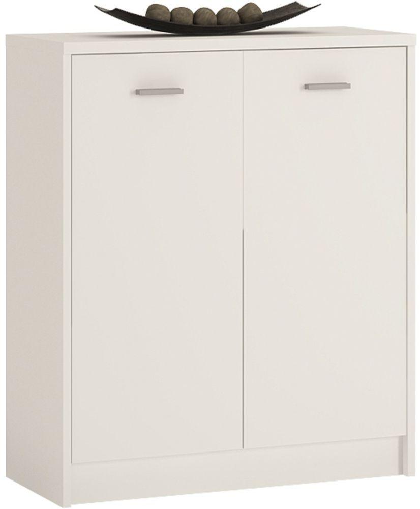 4 You Pearl White Cupboard - 2 Door