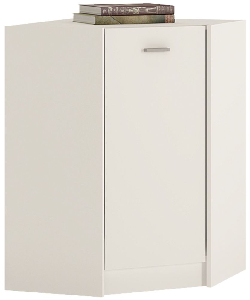 4 You Pearl White Corner Cupboard