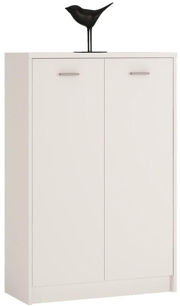 4 You Pearl White 2 Door Tall Cupboard