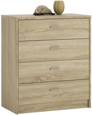 4 You Sonama Oak 4 Drawer Chest