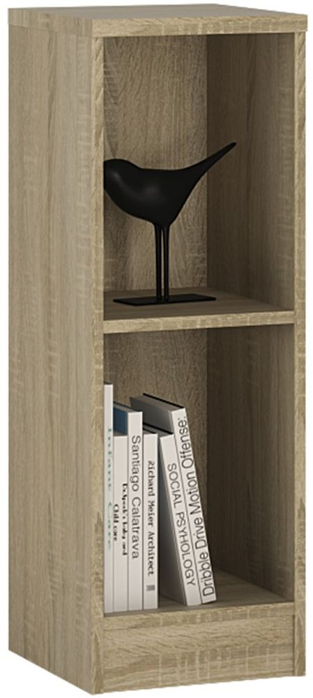4 You Sonama Oak Bookcase - Low Narrow