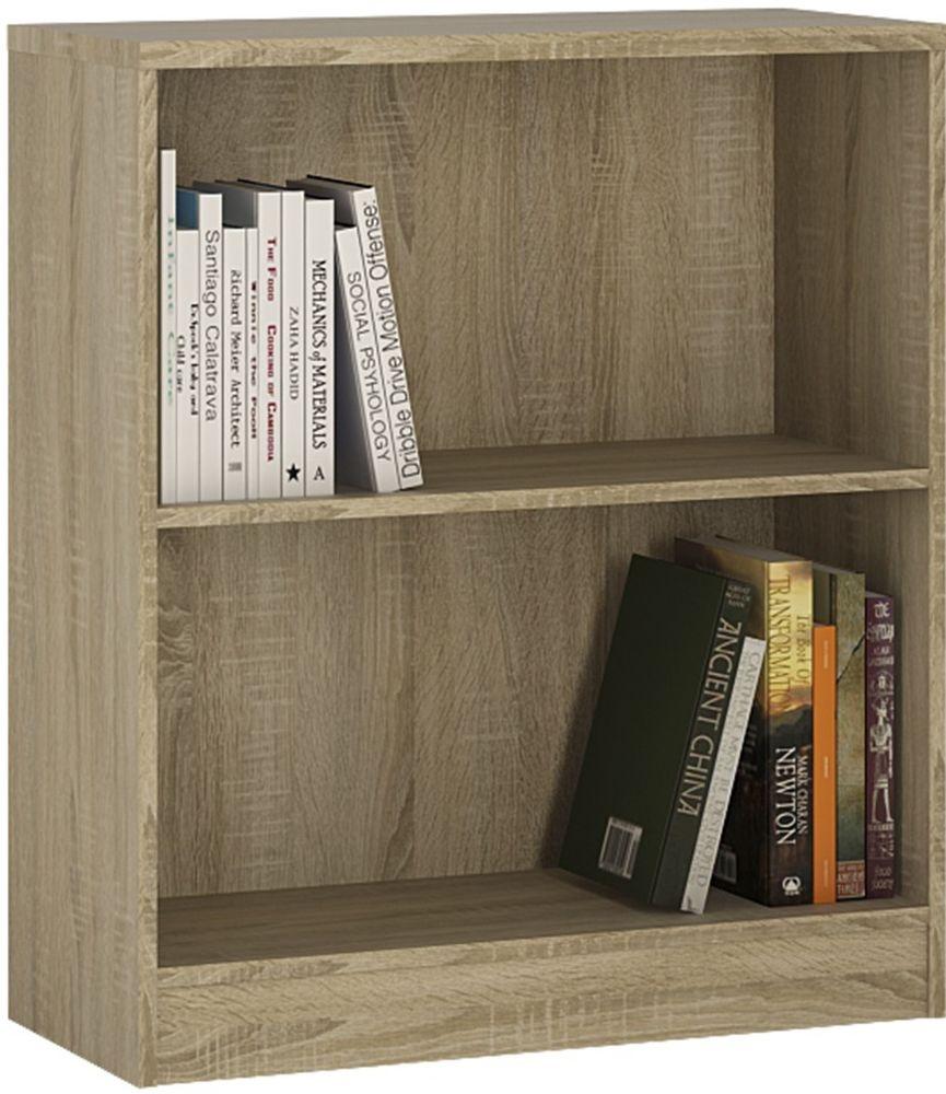 4 You Sonama Oak Bookcase - Low Wide