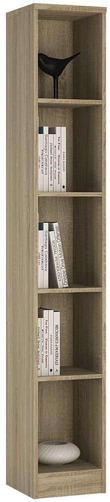 4 You Sonama Oak Bookcase - Tall Narrow