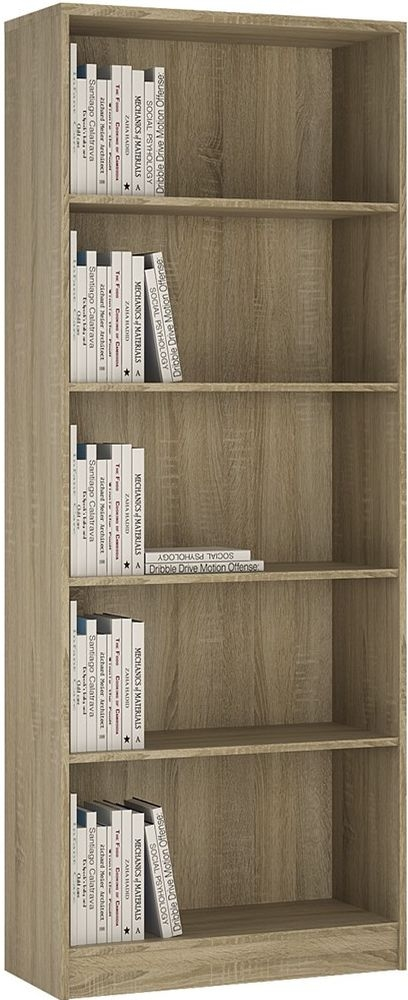 4 You Sonama Oak Bookcase - Tall Wide