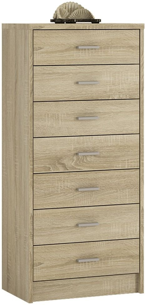 4 You Sonama Oak 7 Drawer Chest