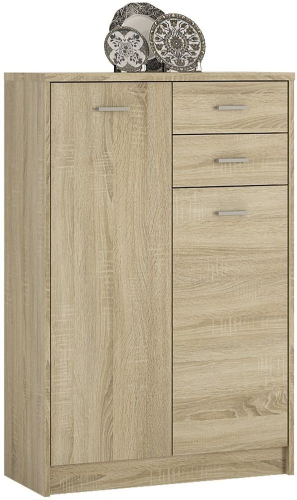 4 You Sonama Oak 2 Door Tall Combi Cupboard
