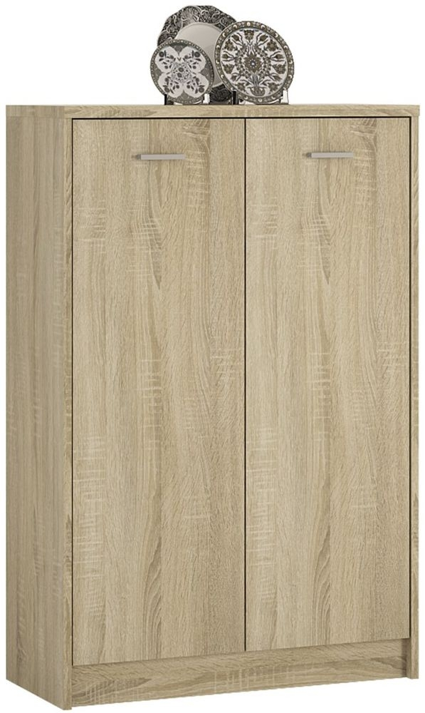 4 You Sonama Oak 2 Door Tall Cupboard