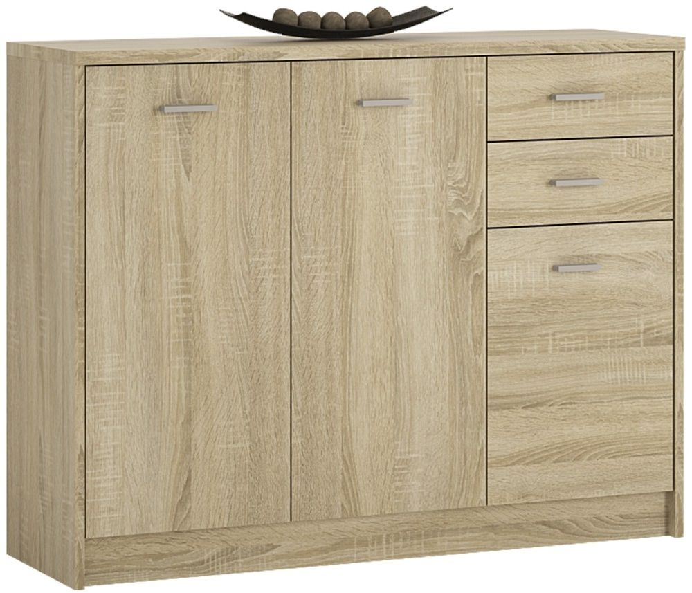 4 You Sonama Oak 3 Door Combi Cupboard