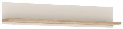 4Kids Large Wall Shelf - Light Oak and White High Gloss