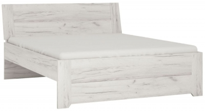 Angel Bed - White Crafted Oak Melamine
