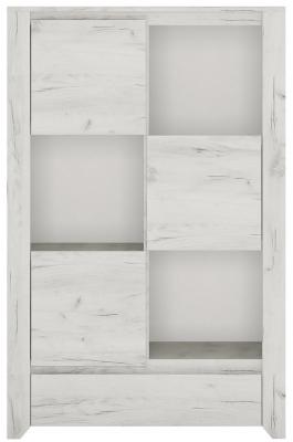 Angel 3 Door Combi Cupboard - White Crafted Oak Melamine