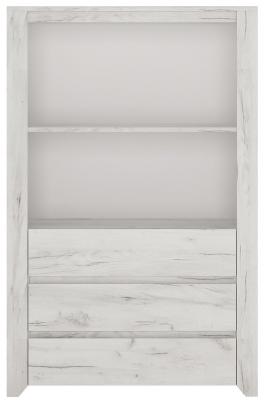 Angel Cupboard - White Crafted Oak Melamine