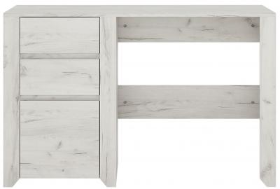 Angel Desk - White Crafted Oak Melamine