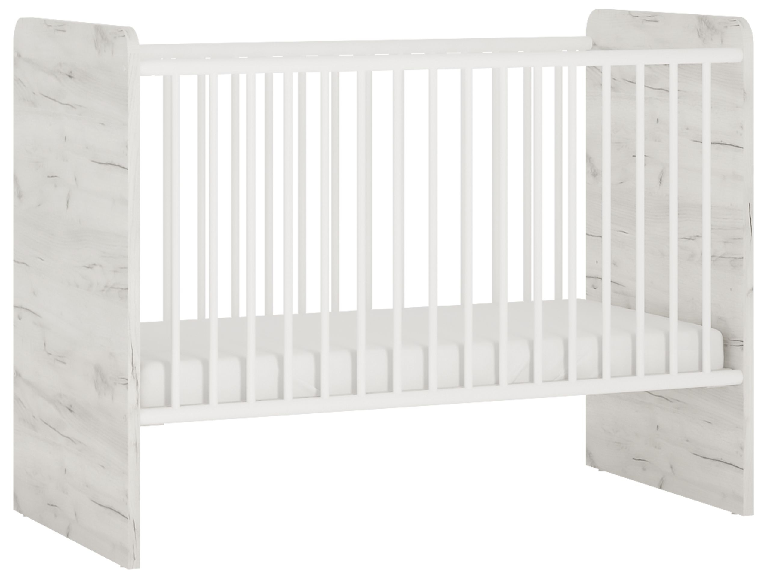 Aurelia White Cot Bed thumbnail