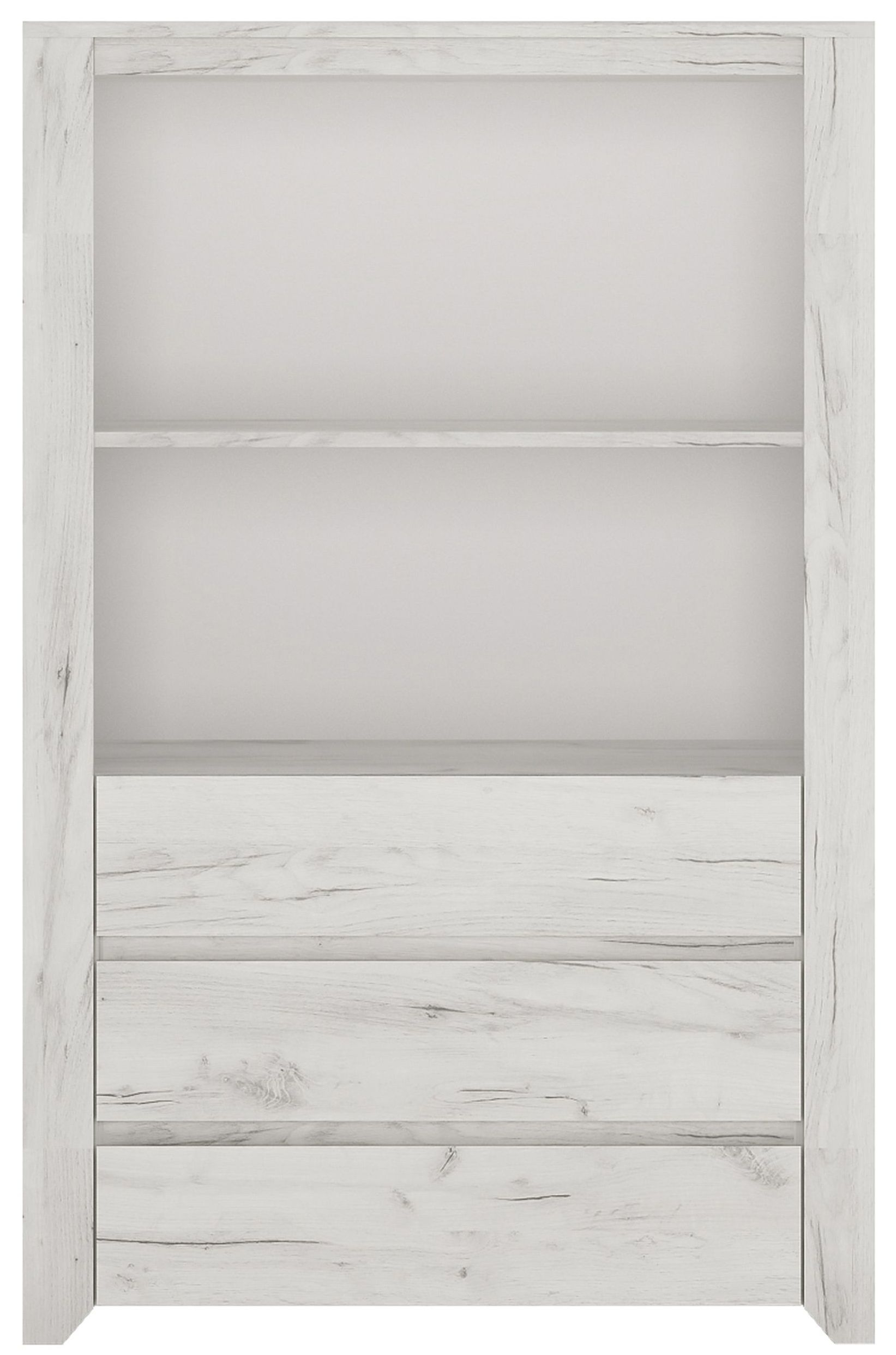 Angel Cupboard - White Crafted Oak Melamine