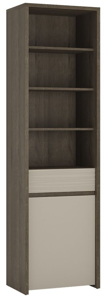 Aspen Riviera Oak Bookcase - 1 Door 1 Drawer