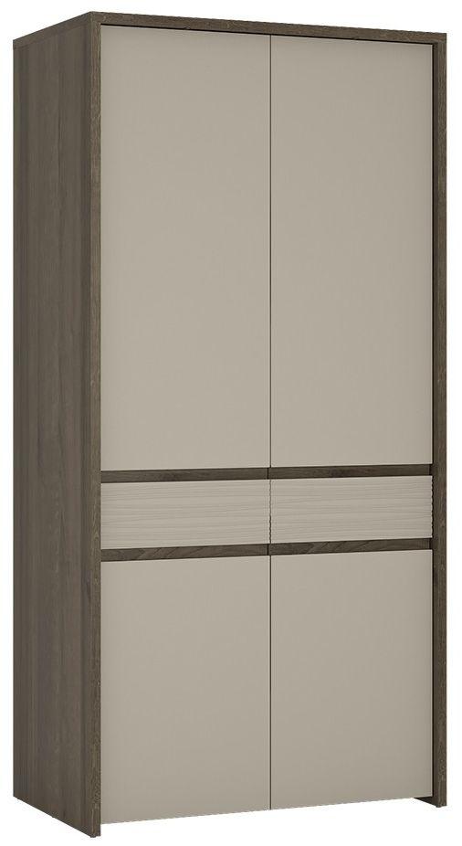 Aspen Riviera Oak Cupboard - Tall 2 Door