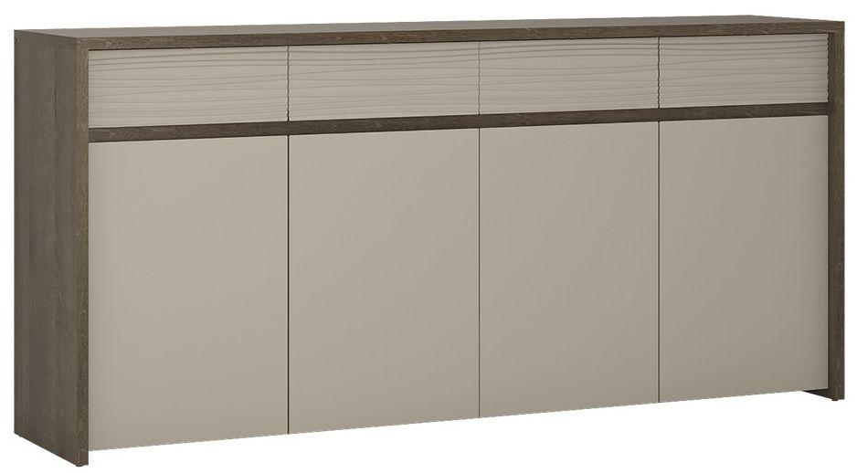 Aspen Riviera Oak Sideboard - 4 Door 4 Drawer
