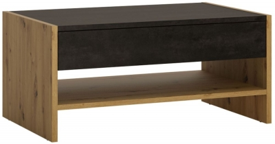 Aviles Storage Coffee Table - Artisan Oak and Dark Accents