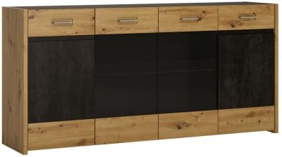 Aviles Wide Sideboard - Artisan Oak and Dark Accents