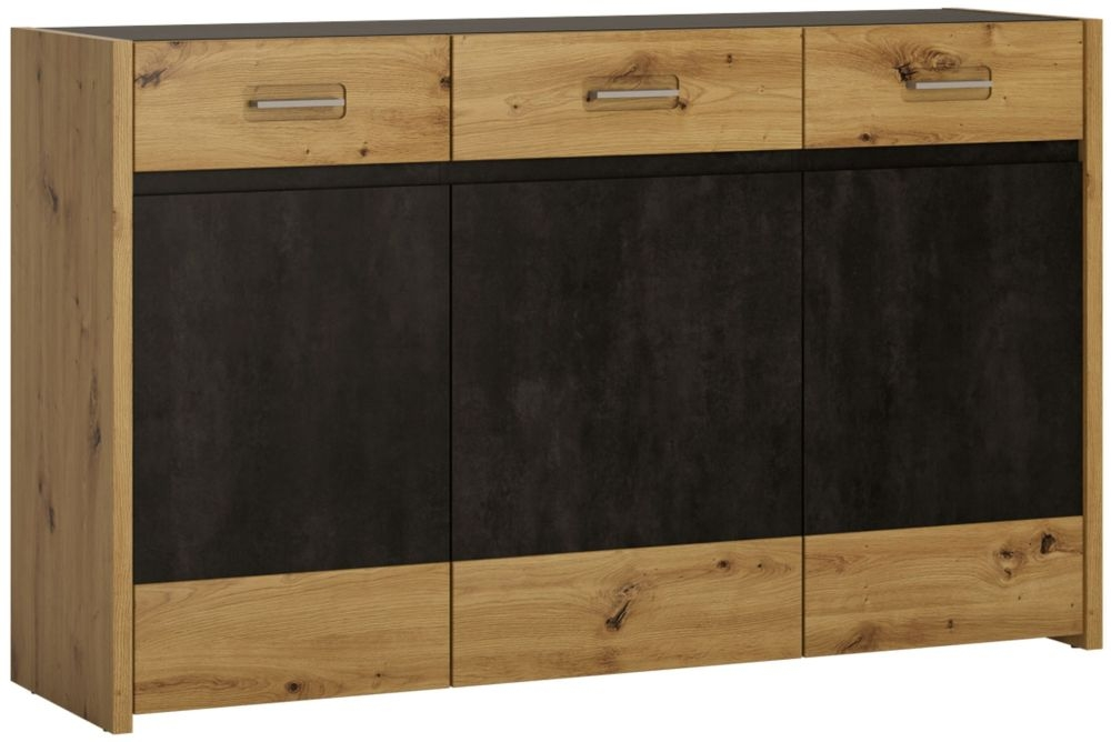 Aviles Sideboard - Artisan Oak and Dark Accents