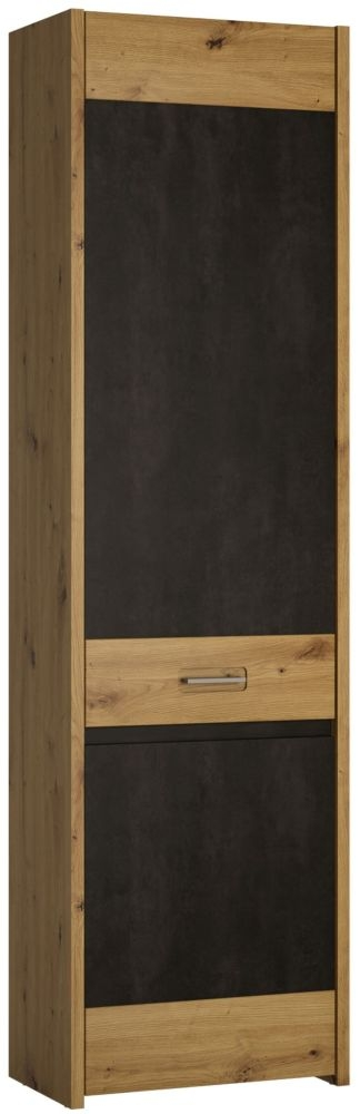 Aviles Cupboard - Artisan Oak and Dark Accents