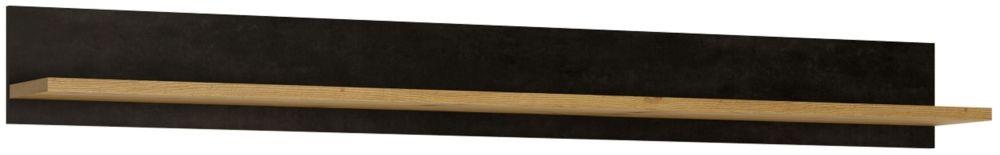 Aviles Wide Wall Shelf - Artisan Oak and Dark Accents