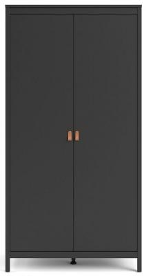 Barcelona Matt Black 2 Door Wardrobe