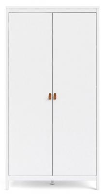 Barcelona White 2 Door Wardrobe