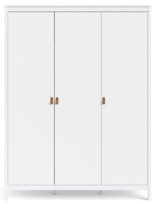 Barcelona White 3 Door Wardrobe