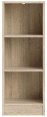 Basic Oak Low Narrow Bookcase