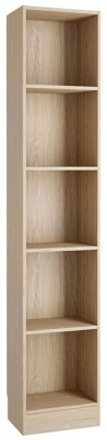Basic Oak Tall Narrow Bookcase