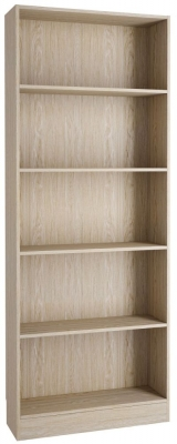 Basic Oak Tall Wide Bookcase