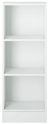 Basic White Low Narrow Bookcase