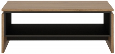 Brolo Coffee Table - Dark Walnut and High Gloss White