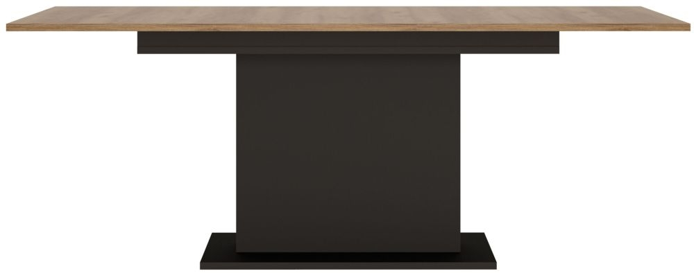 Brolo Extending Dining Table - Walnut and Dark